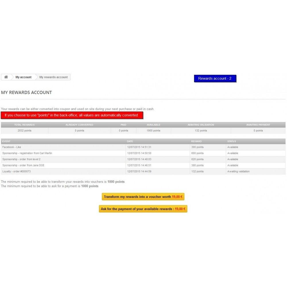 module - Fidelização & Apadrinhamento - All-in-one Rewards: Fidelidade, patrocínio, afiliação - 5