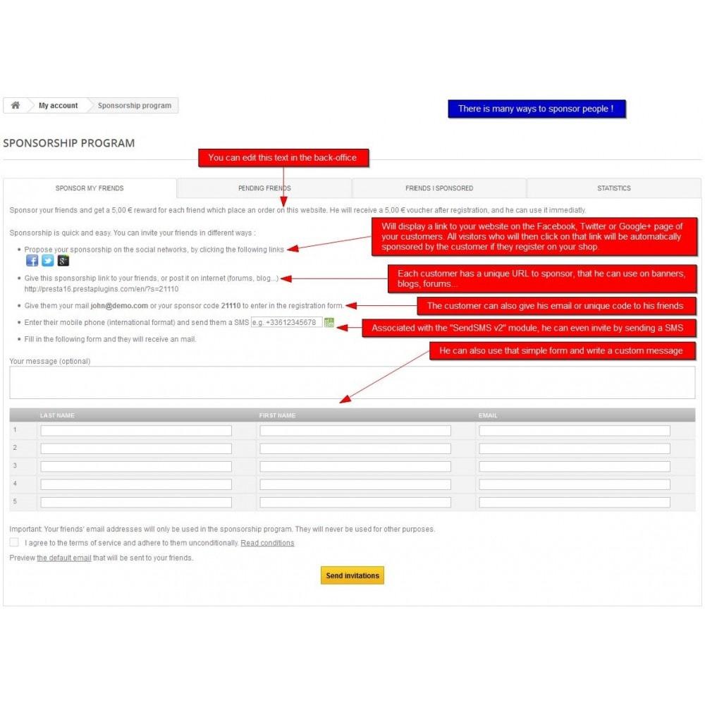 module - Fidelização & Apadrinhamento - All-in-one Rewards: Fidelidade, patrocínio, afiliação - 6