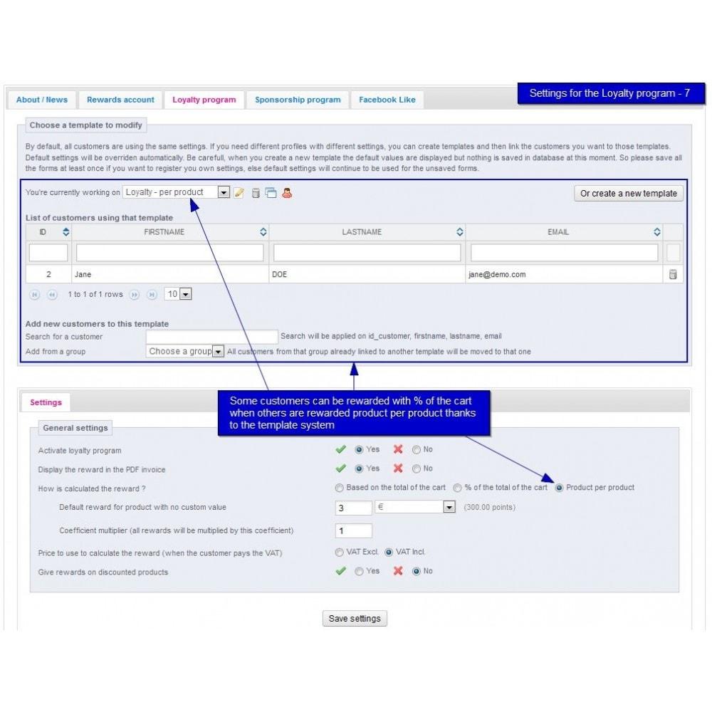 module - Fidelização & Apadrinhamento - All-in-one Rewards: Fidelidade, patrocínio, afiliação - 30