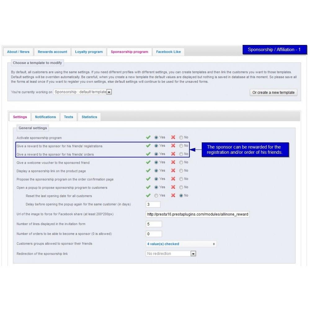 module - Fidelização & Apadrinhamento - All-in-one Rewards: Fidelidade, patrocínio, afiliação - 31