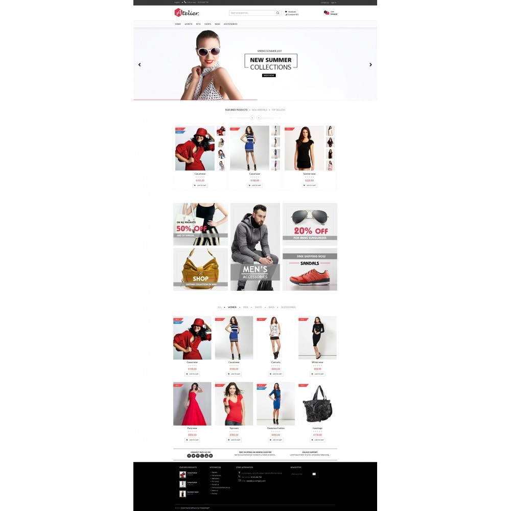 theme - Moda y Calzado - Atelier Fashion Multipurpose HTML5 - 2
