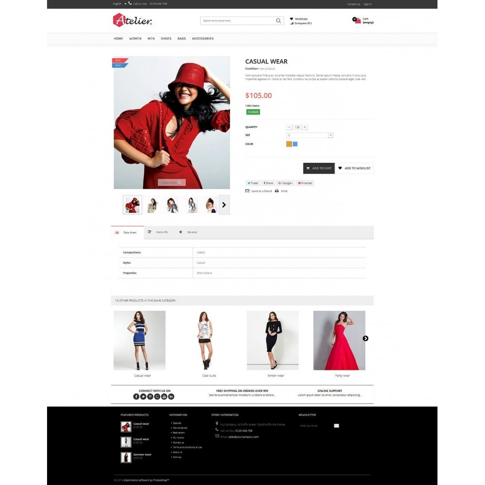 theme - Moda y Calzado - Atelier Fashion Multipurpose HTML5 - 4