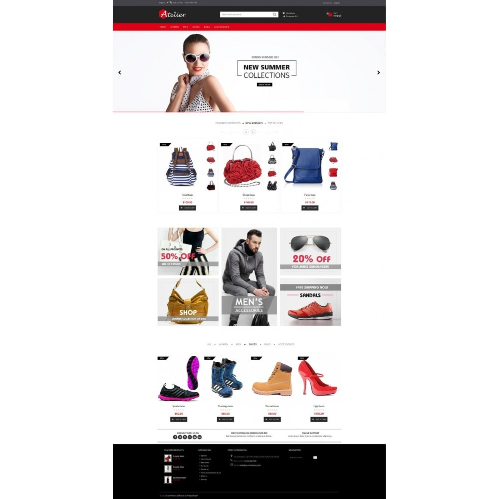 theme - Moda y Calzado - Atelier Fashion Multipurpose HTML5 - 5