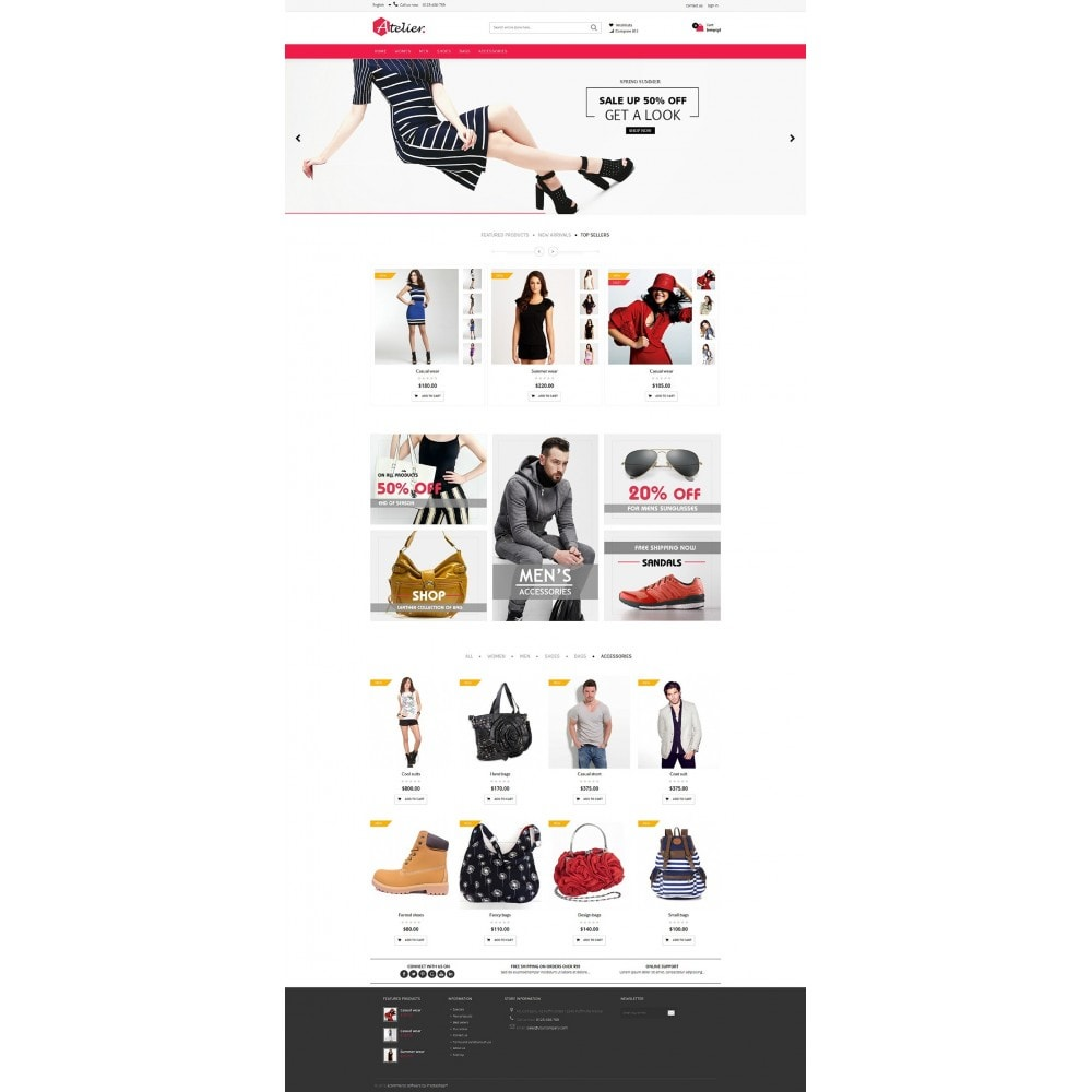 theme - Moda y Calzado - Atelier Fashion Multipurpose HTML5 - 8