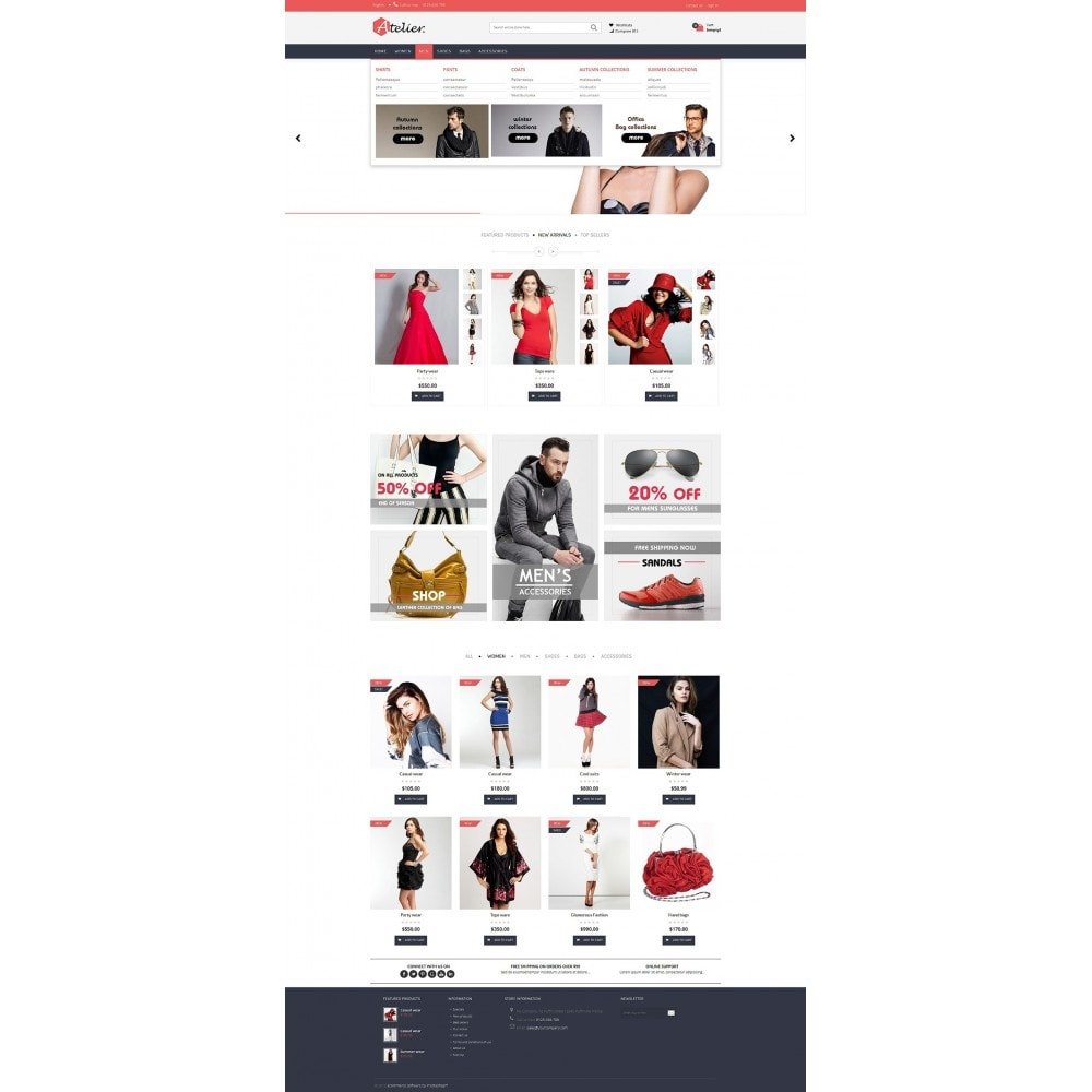theme - Moda y Calzado - Atelier Fashion Multipurpose HTML5 - 9