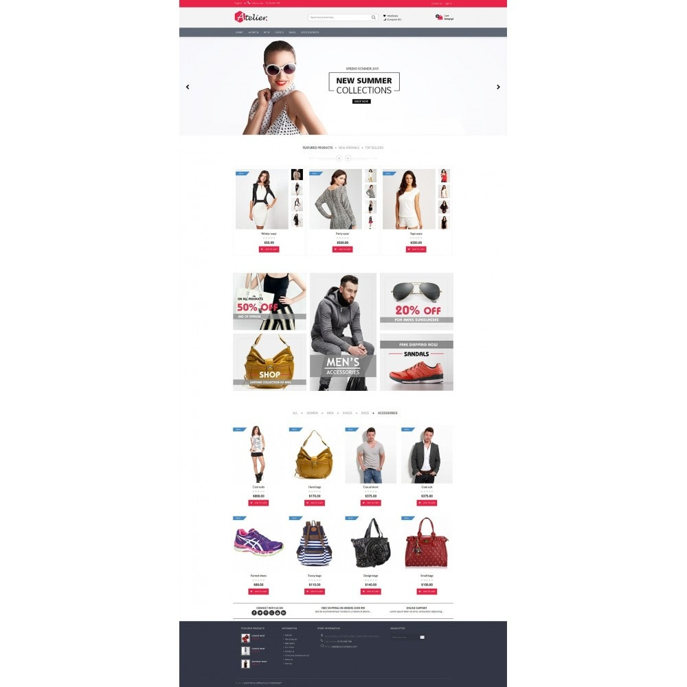 theme - Moda y Calzado - Atelier Fashion Multipurpose HTML5 - 11