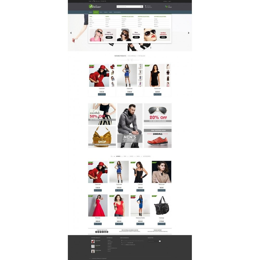 theme - Moda y Calzado - Atelier Fashion Multipurpose HTML5 - 13