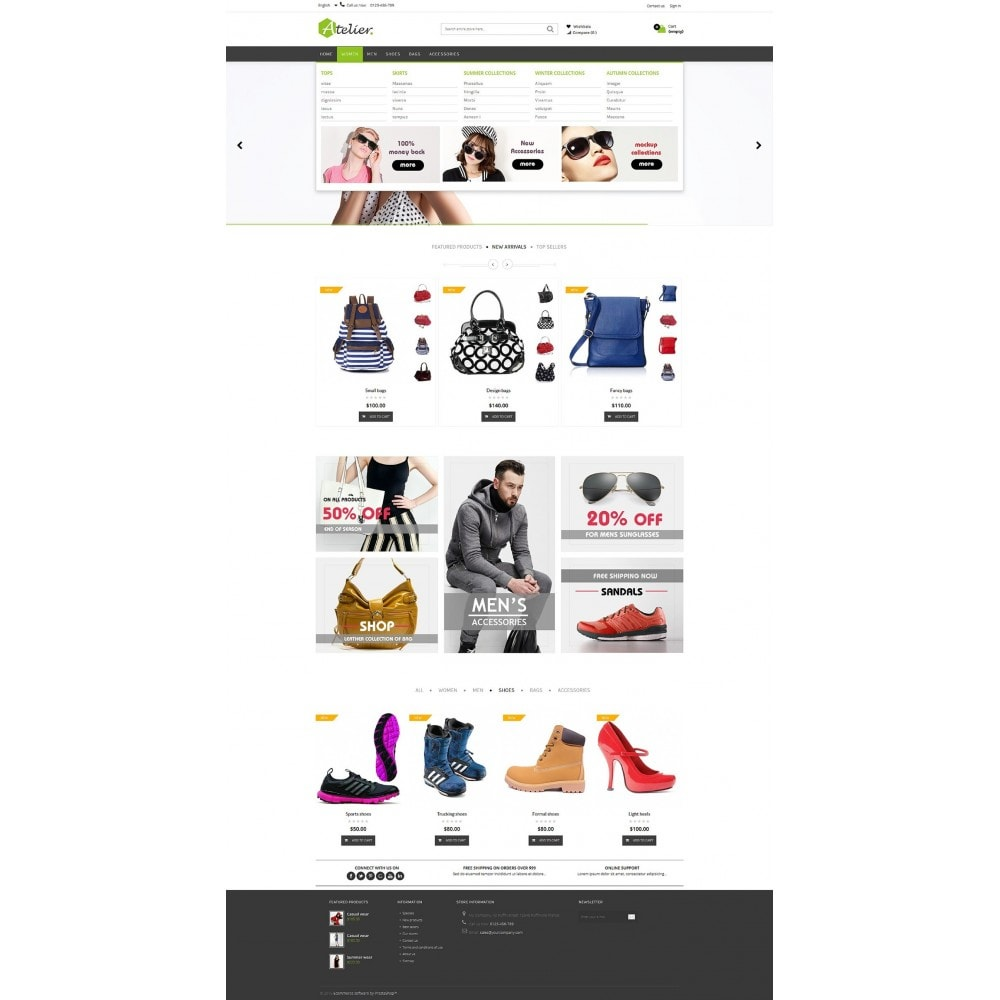 theme - Moda y Calzado - Atelier Fashion Multipurpose HTML5 - 14