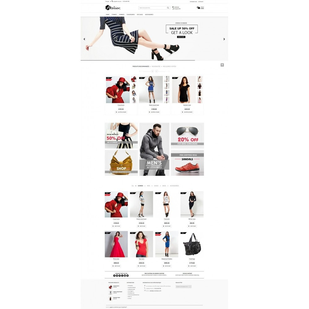 theme - Moda y Calzado - Atelier Fashion Multipurpose HTML5 - 15