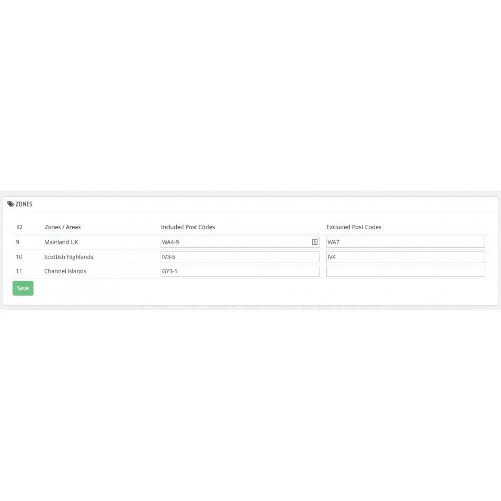 module - Frais de port - UK Postcode Split Delivery - 3
