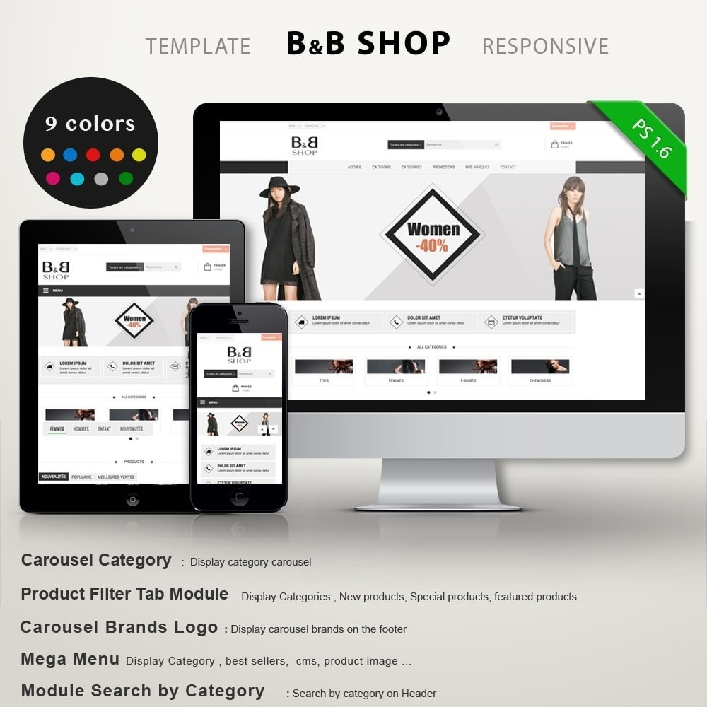 theme - Mode & Chaussures - B&B SHOP - 1