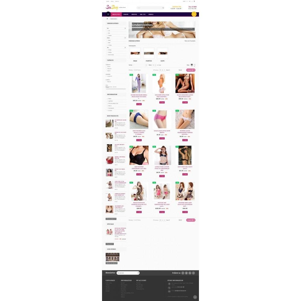 theme - Lingerie & Erwachsene - SexShop Online Store - 5