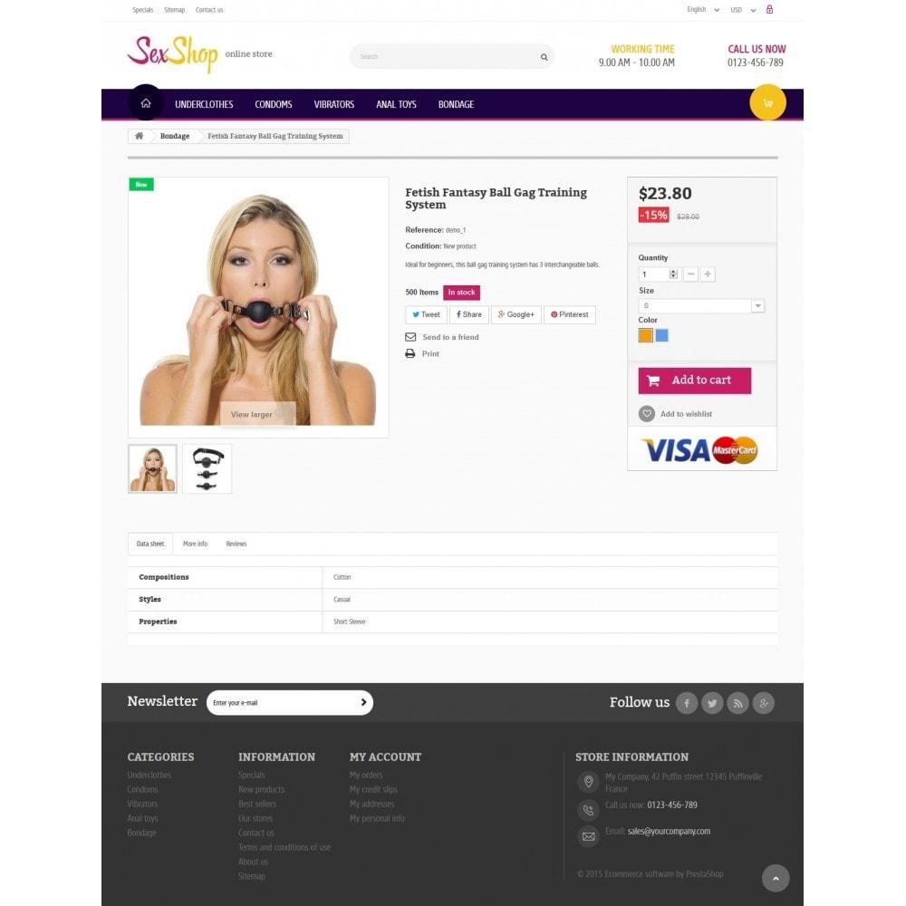 theme - Lingerie & Erwachsene - SexShop Online Store - 7