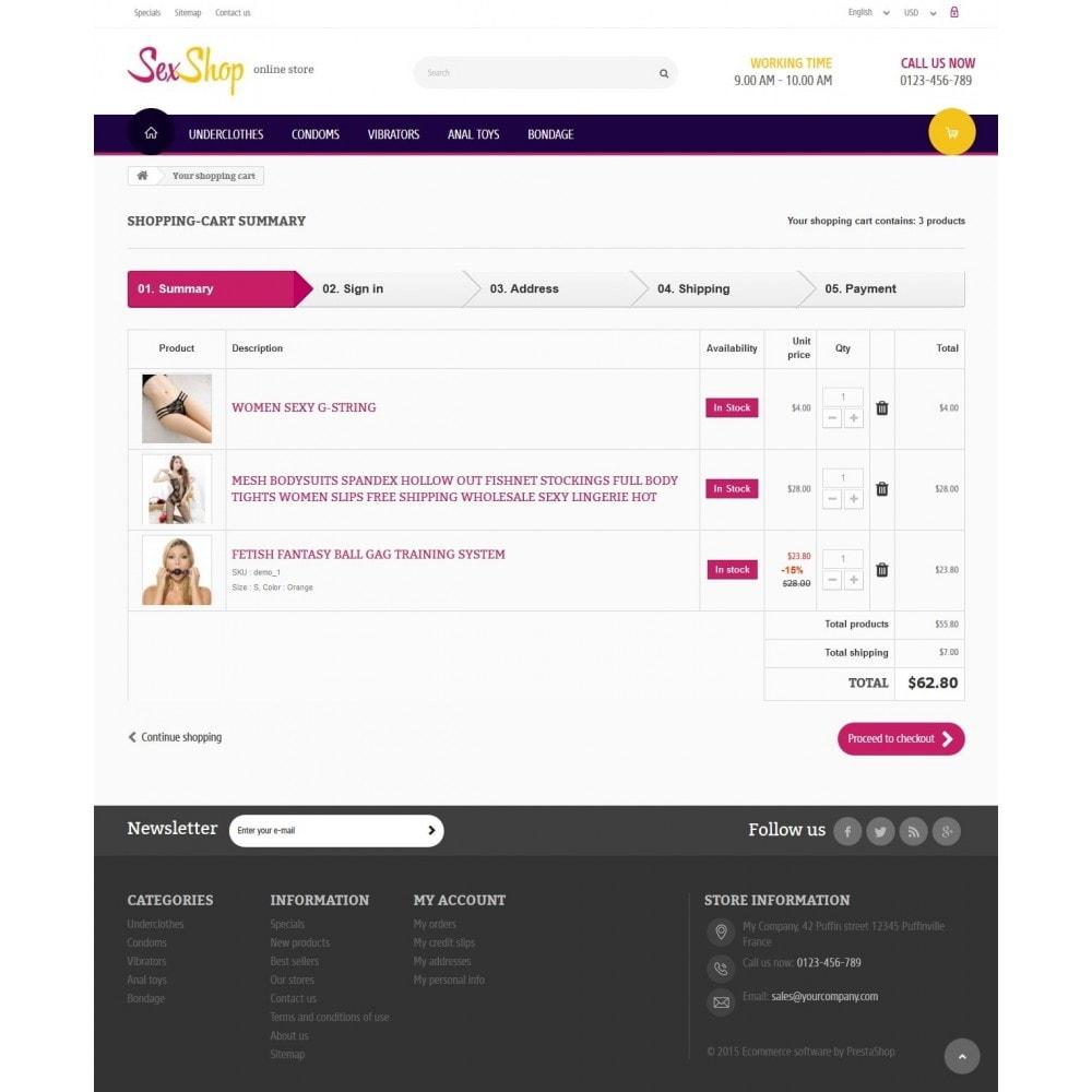 theme - Lingerie & Erwachsene - SexShop Online Store - 8