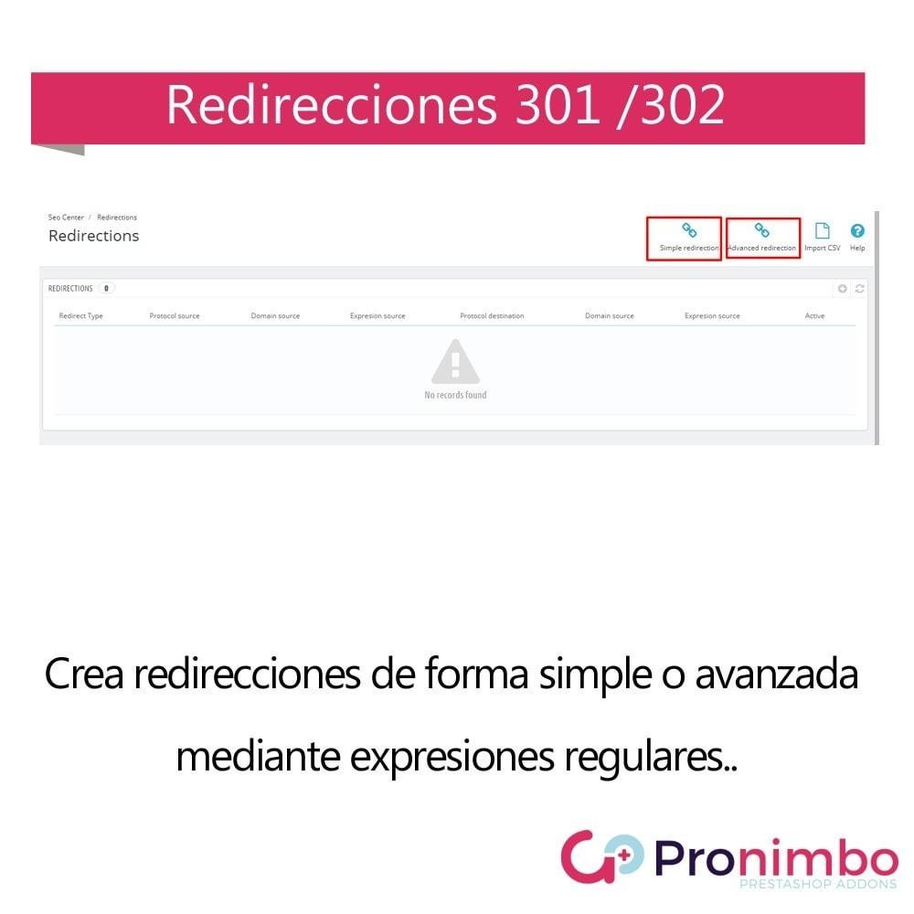 module - URL y Redirecciones - Seo Center: Redirecciones 301 / 302 - 2