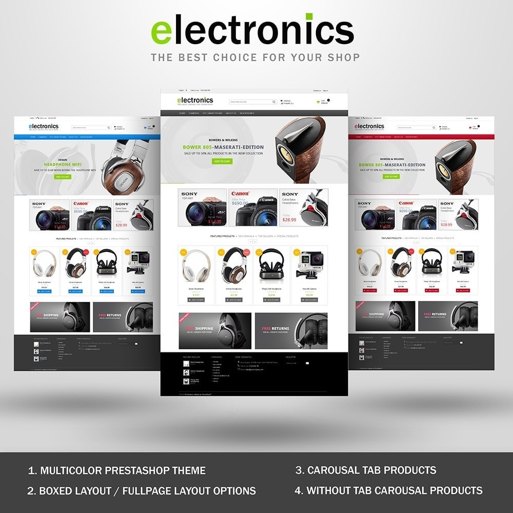 theme - Electrónica e High Tech - Electronics shop - 1