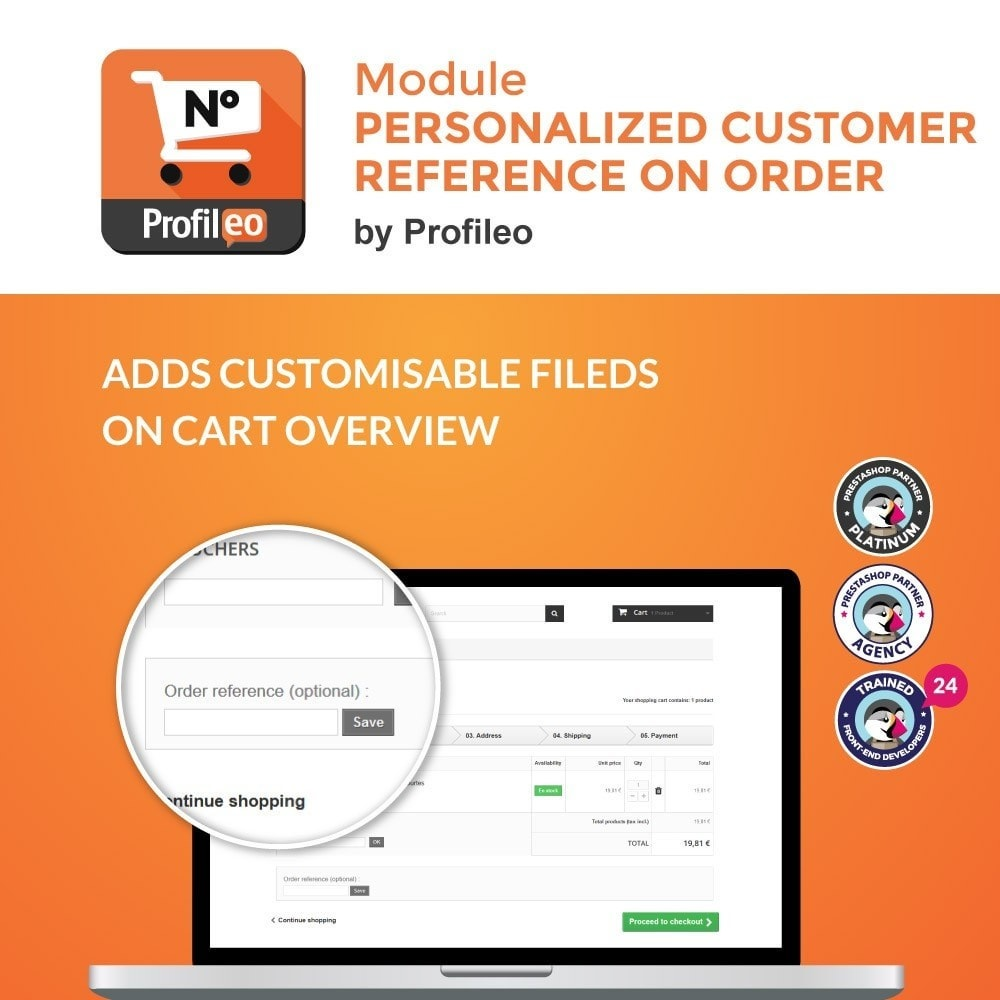 module - Управление заказами - Personalized customer reference on order - 1