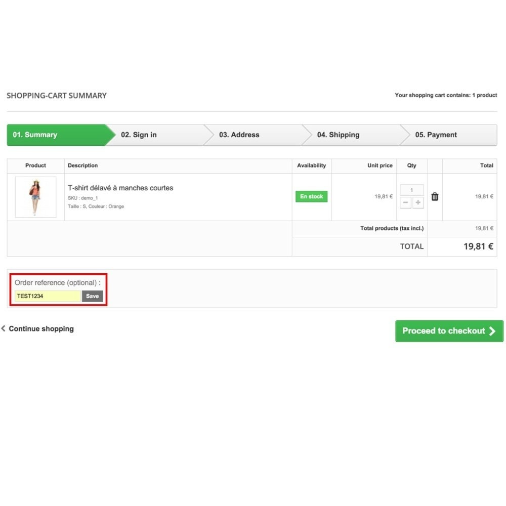 module - Управление заказами - Personalized customer reference on order - 2