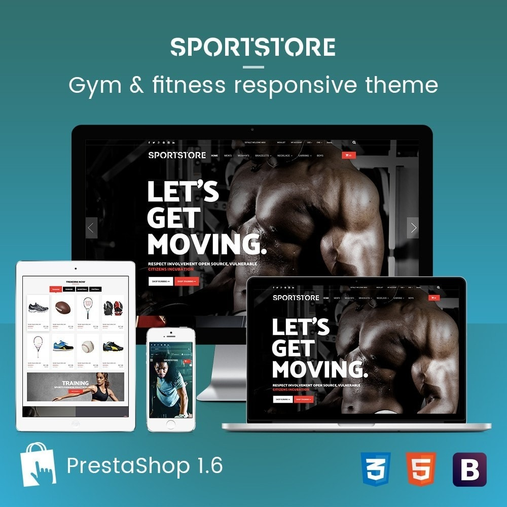 theme - Sports, Activities & Travel - Sport Gym & Fitness Responsive Theme - 1