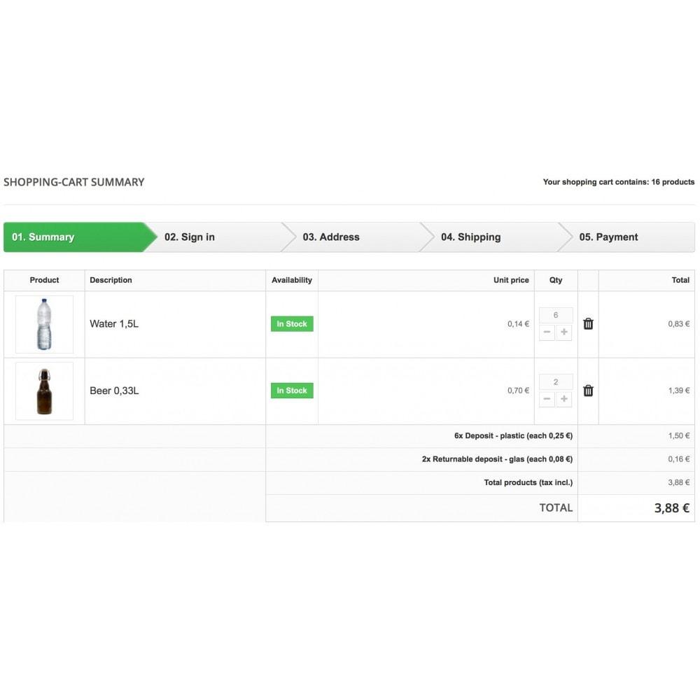 module - Altre informazioni & Product Tab - Deposit manager - 2