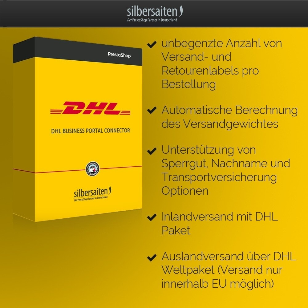 module - Transportistas - DHL Business Portal Connector - 2