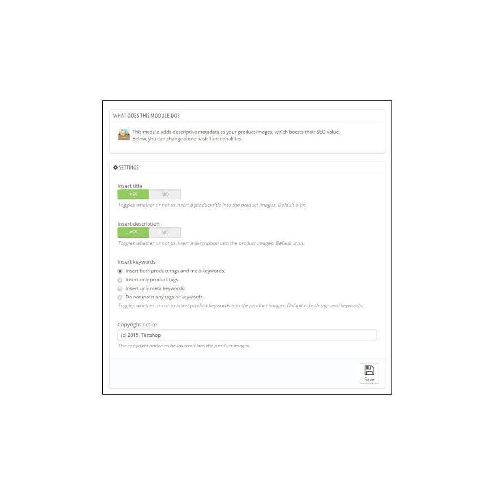 module - SEO (Referenciamento natural) - Image Metadata - 2
