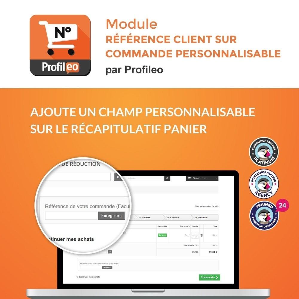 module - Gestion des Commandes - Référence client sur commande personnalisable - 1