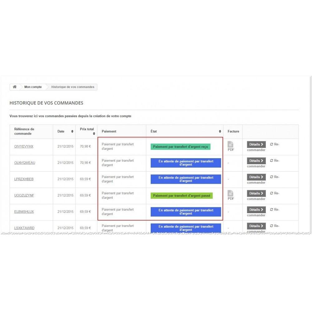 module - Autres moyens de paiement - Paiement par transfert d'argent - 5