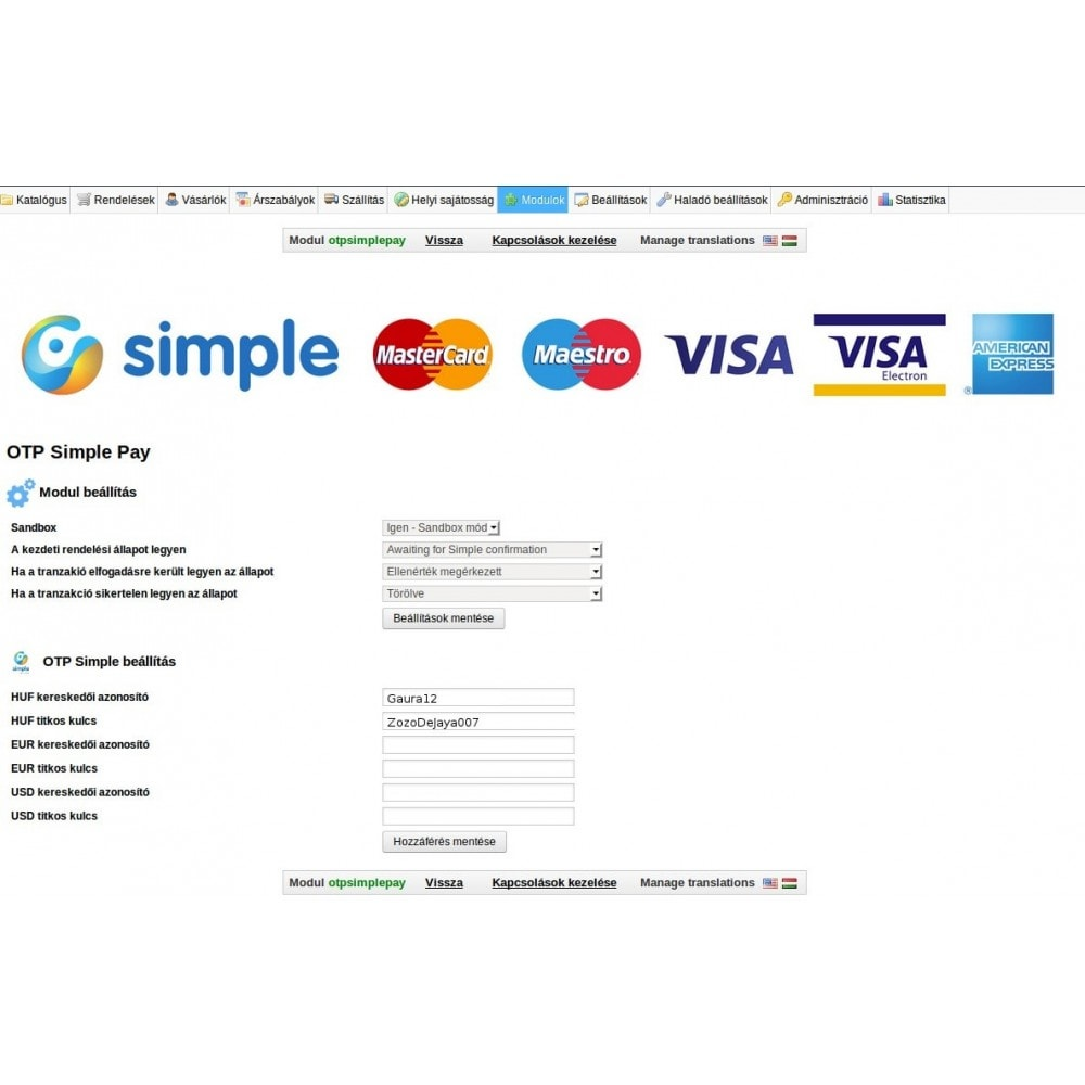 module - Payment by Card or Wallet - OTP Simple Pay - 3