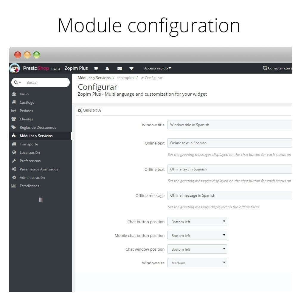 module - Support & Chat Online - Zendesk - Zopim - Live Customers Chat - 6