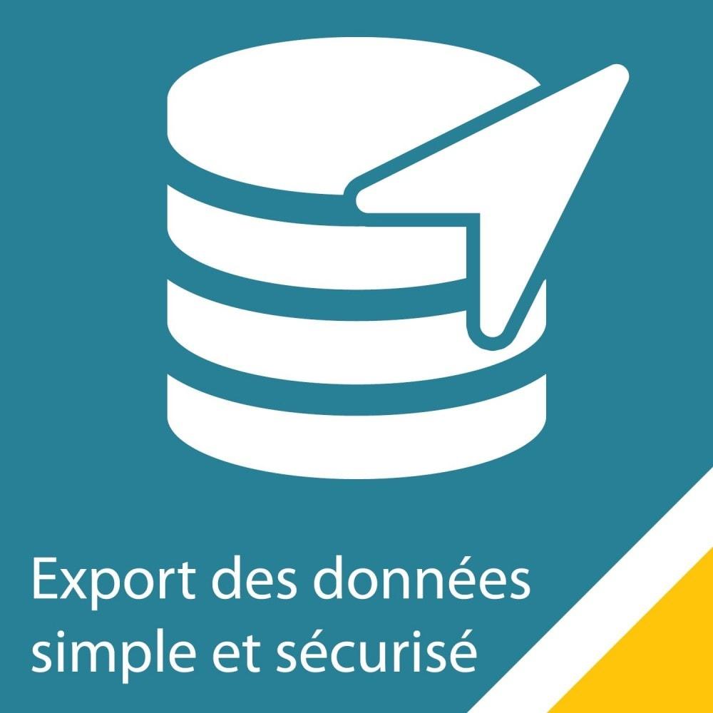 module - Import & Export de données - Export clients / commandes simple et sécurisé - 1