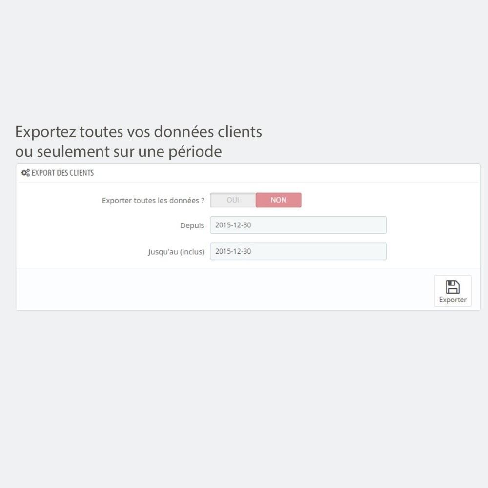 module - Import & Export de données - Export clients / commandes simple et sécurisé - 3