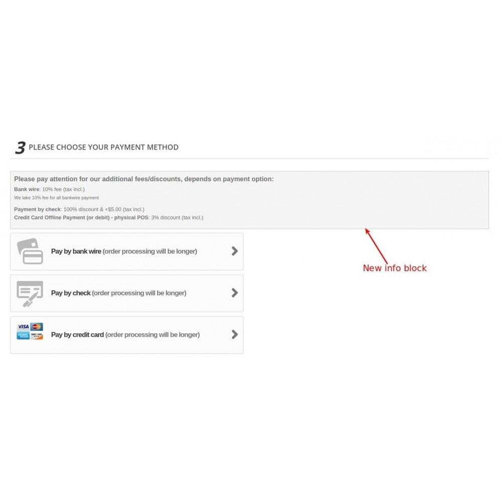 module - Registratie en Proces van bestellingen - Extra fee or discount based on payment - 6