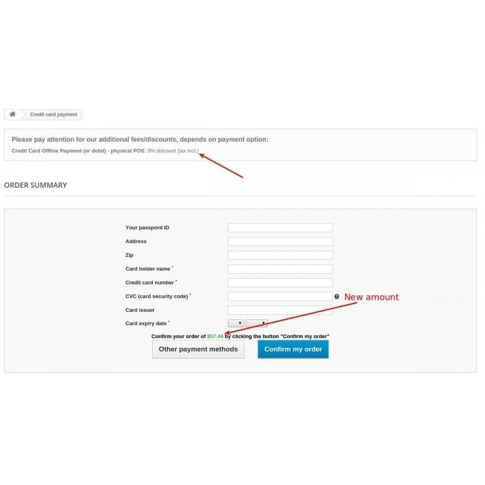 module - Registratie en Proces van bestellingen - Extra fee or discount based on payment - 9