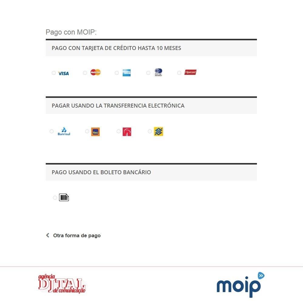 module - Pago con Tarjeta o Carteras digitales - Moip checkout - 3