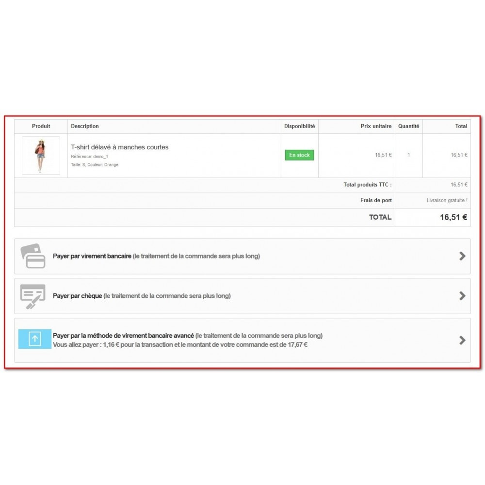 module - Paiement par Transfert Bancaire - Paiement avancé par virement bancaire - 7
