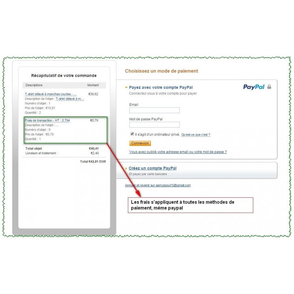 module - Autres moyens de paiement - Commissions et réductions sur les paiements - 4