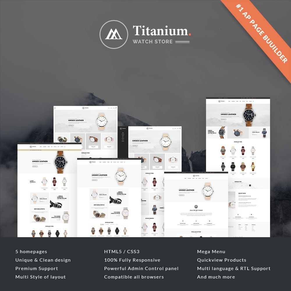 theme - Biżuteria & Akcesoria - Leo Titanium - 1