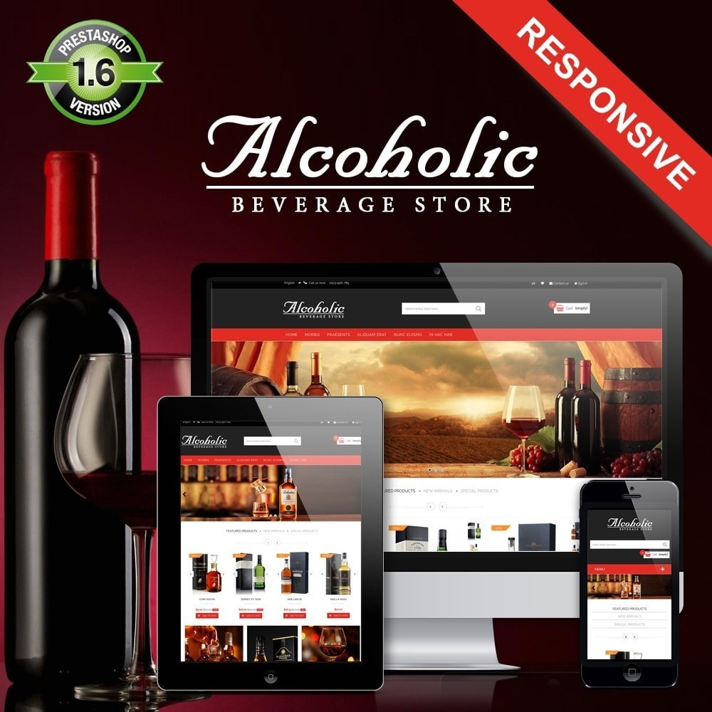theme - Drink & Wine - Alcoholic & Wine Shop HTML5 - 1