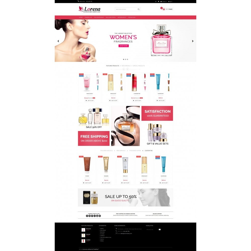 theme - Health & Beauty - Lorena Cosmetic Shop HTML5 - 2