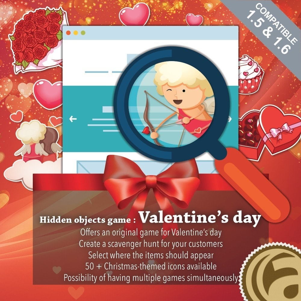 module - Konkursy - Hidden objects game : Valentine's day - 1
