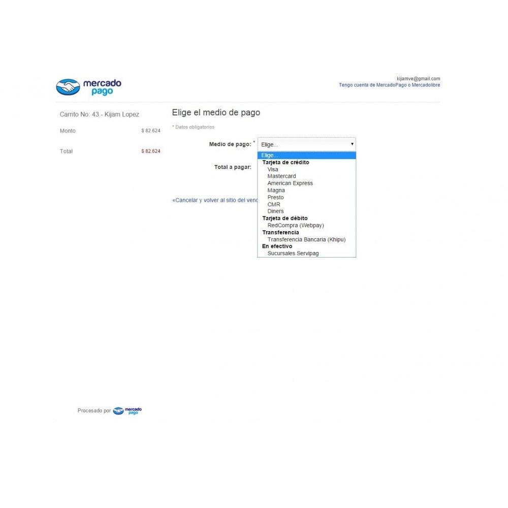 module - Pago con Tarjeta o Carteras digitales - MercadoPago Chile Pro - 6
