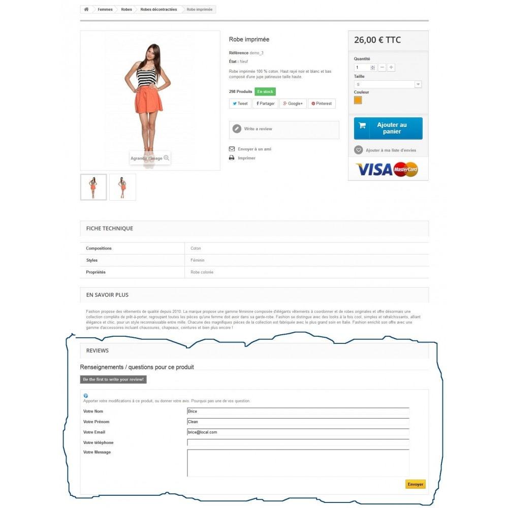 module - Formulaires de Contact & Sondages - Renseignements sur un produit avant achat - 6