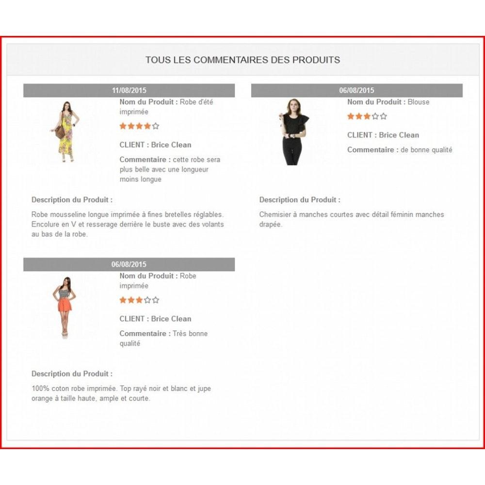 module - Avis clients - Commentaires de produits avancés - 5