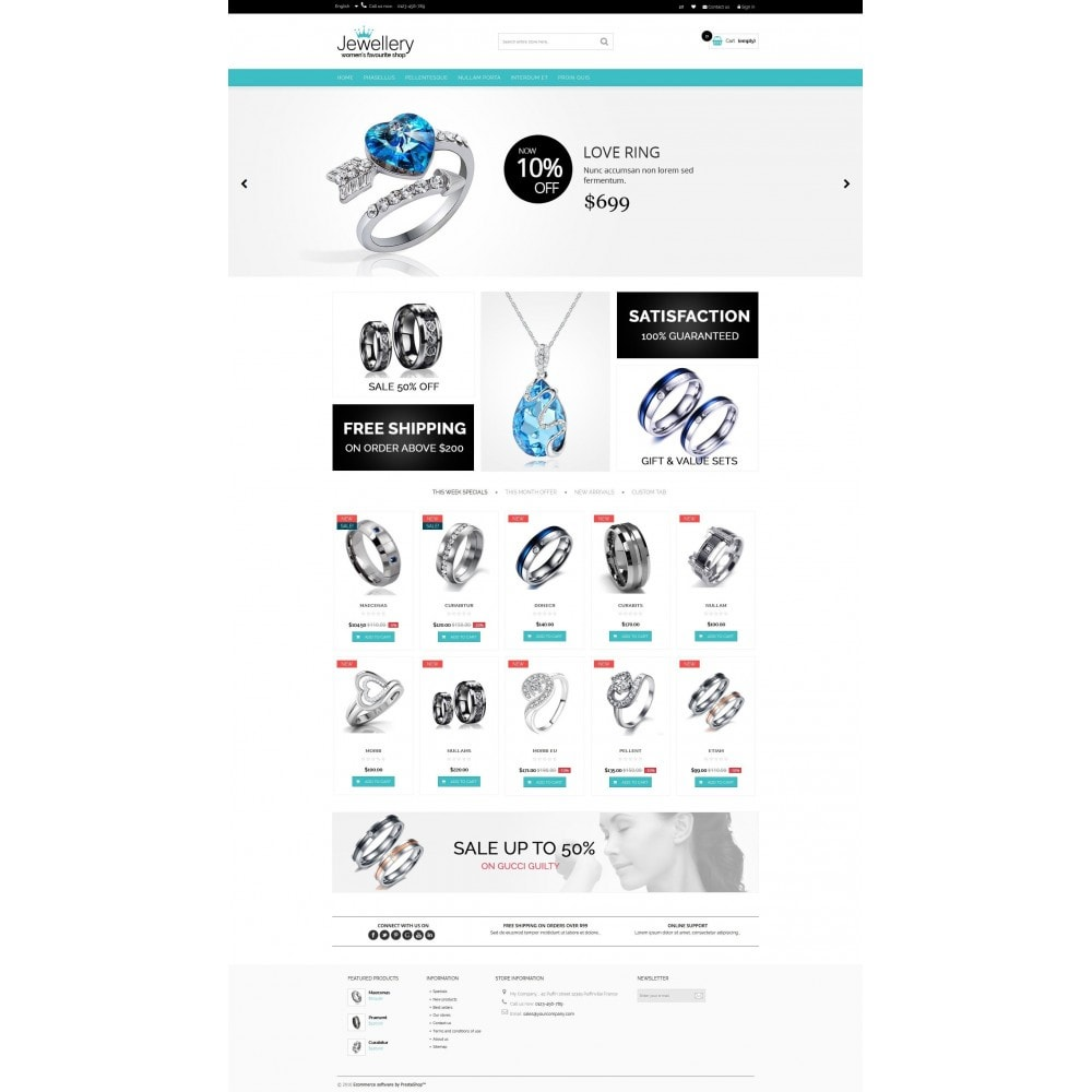theme - Sieraden & Accessoires - Jewellery Multipurpose HTML5 - 2