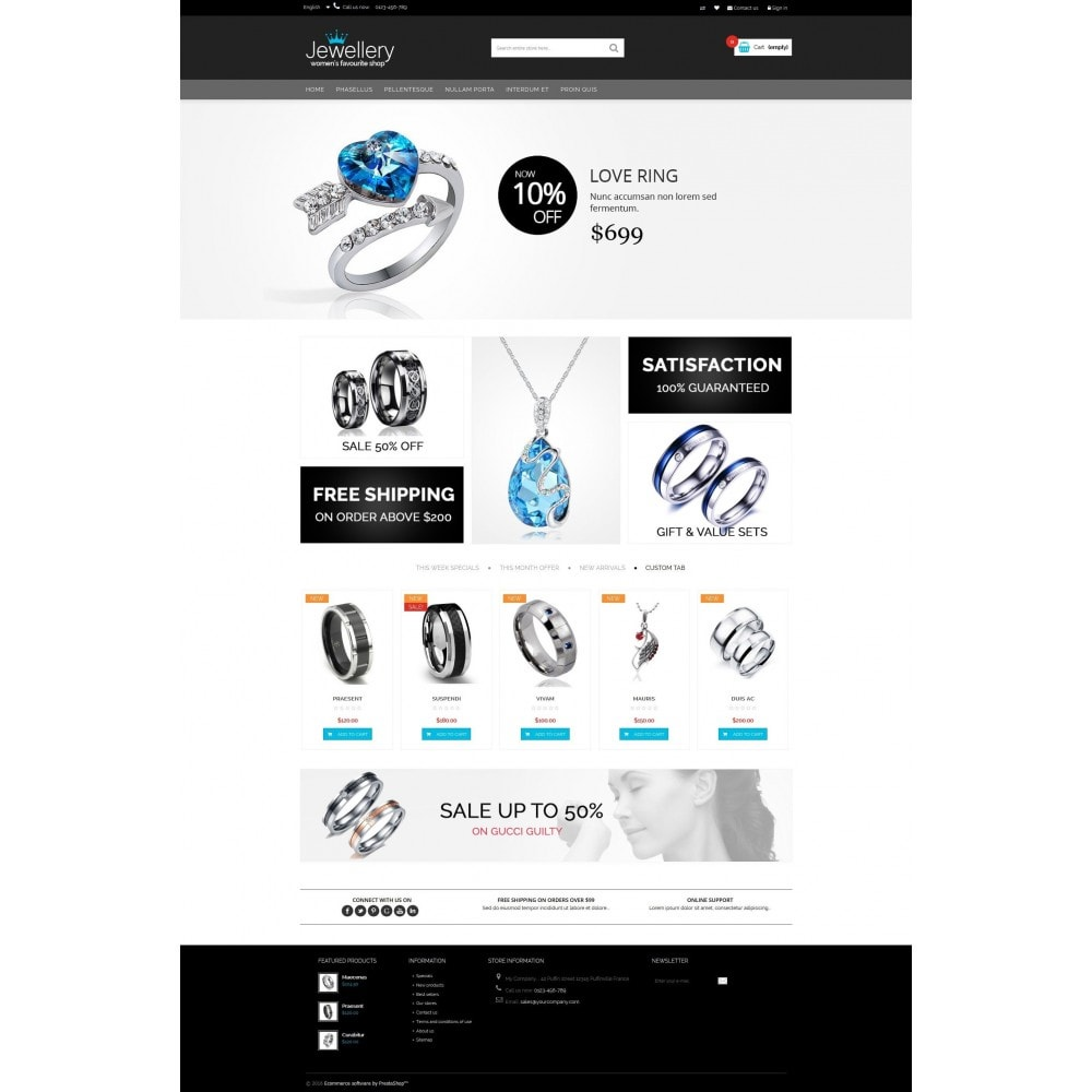 theme - Ювелирные изделия и Аксессуары - Jewellery Multipurpose HTML5 - 5