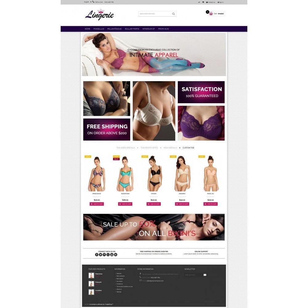 theme - Нижнее белье и товары для взрослых - Lingerie & Adults HTML5 - 5