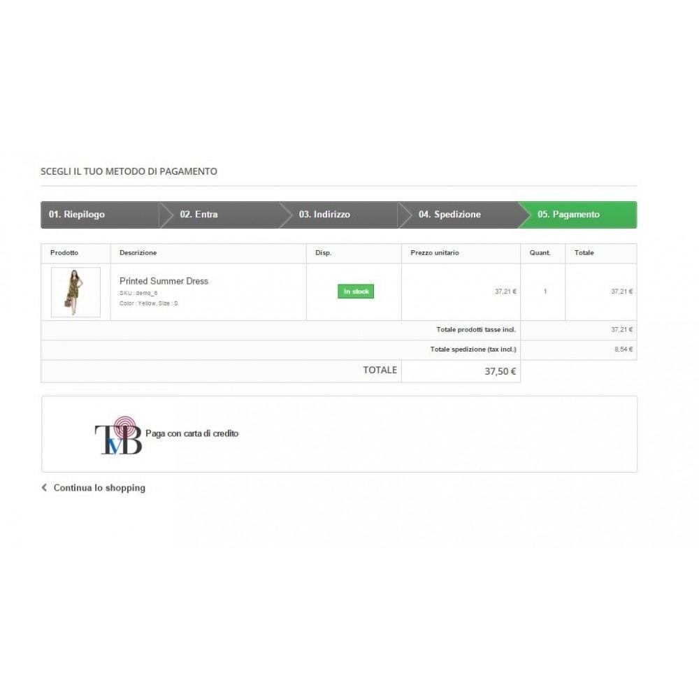 module - Pagamento con Carta di Credito o Wallet - POS Virtuale Consorzio Triveneto - TVB - Avanzato - 2