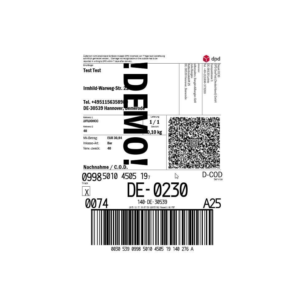 module - Préparation & Expédition - DPD Deutschland Connector - 6