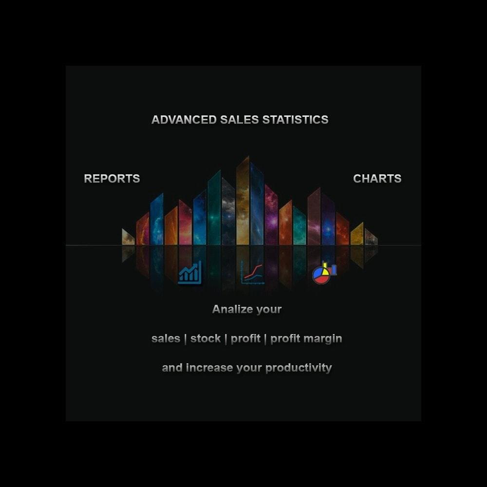 module - Analyses & Statistiques - Advanced Sales Statistics (tax, margin, profit reports) - 1